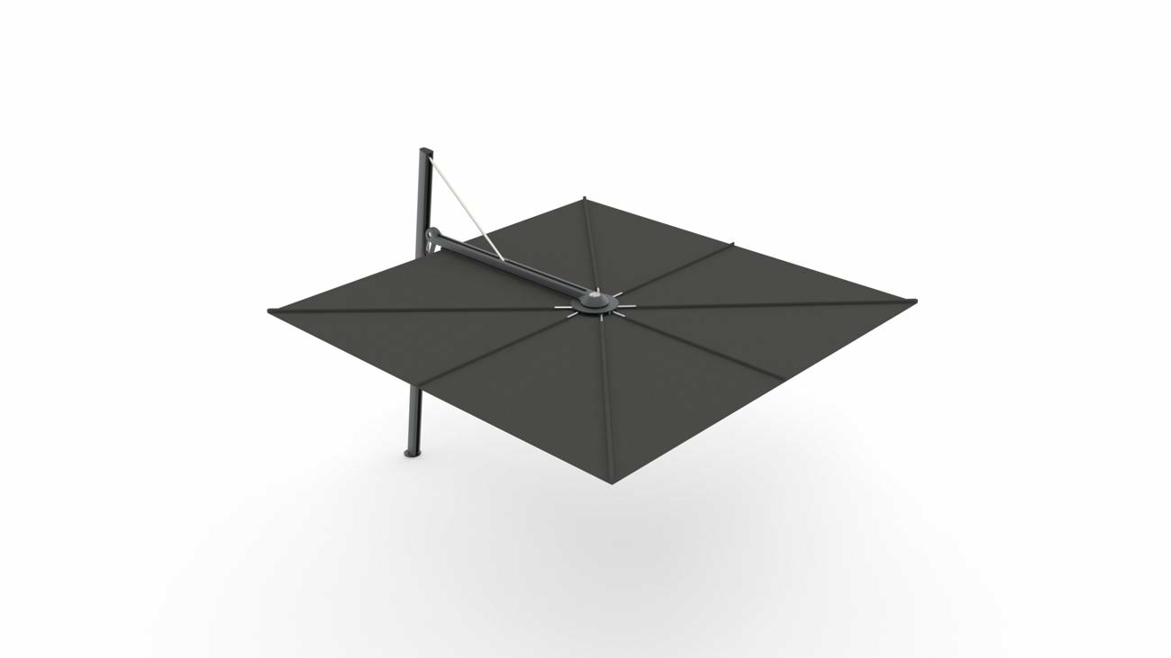 Spectra UX cantilever umbrella - Architecture Full Black - 3 m square - fabric in Sunbrella Black