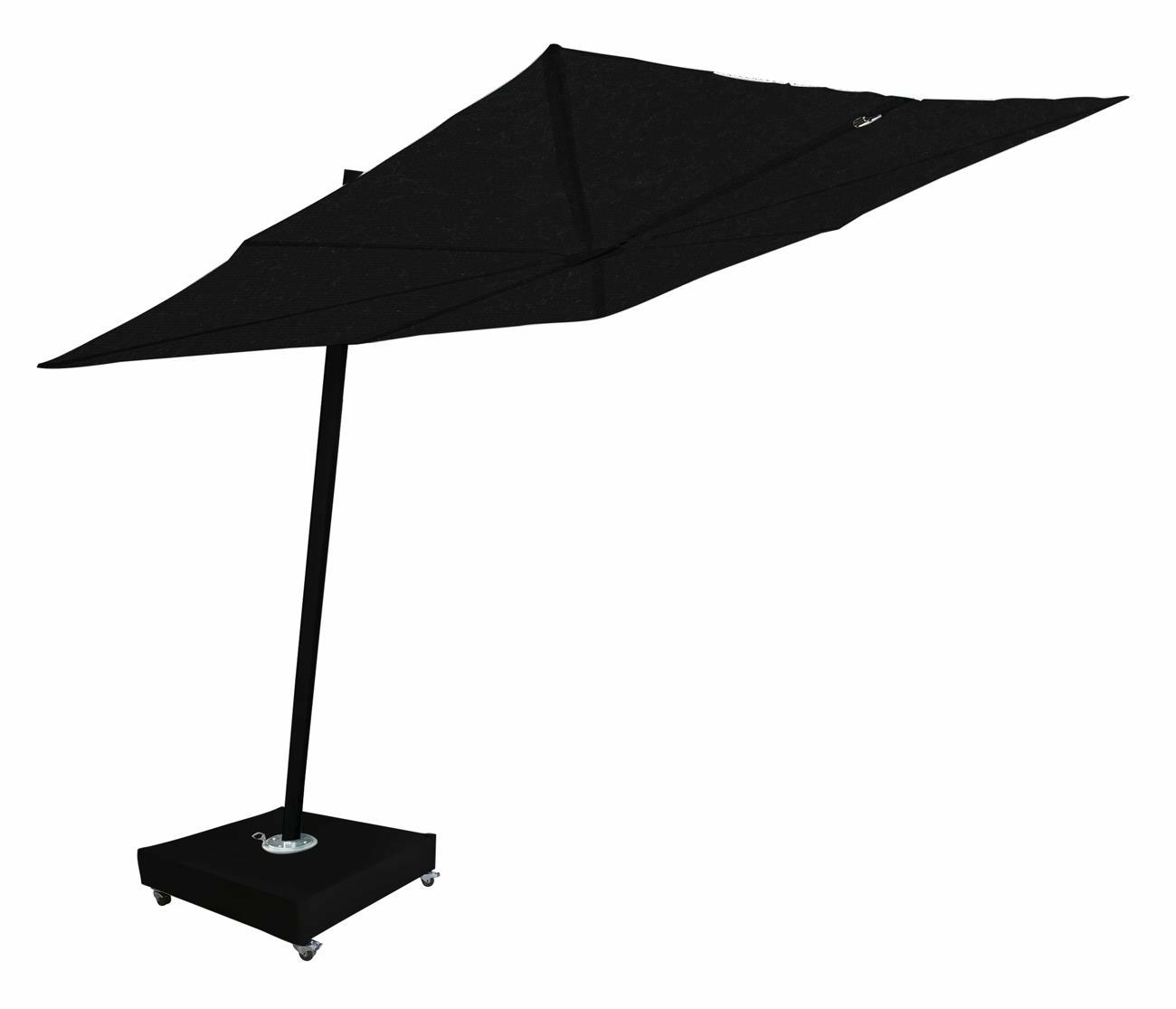 Spectra parasol déporté incliné (80°) ǀ châssis en Dusk avec base mobile