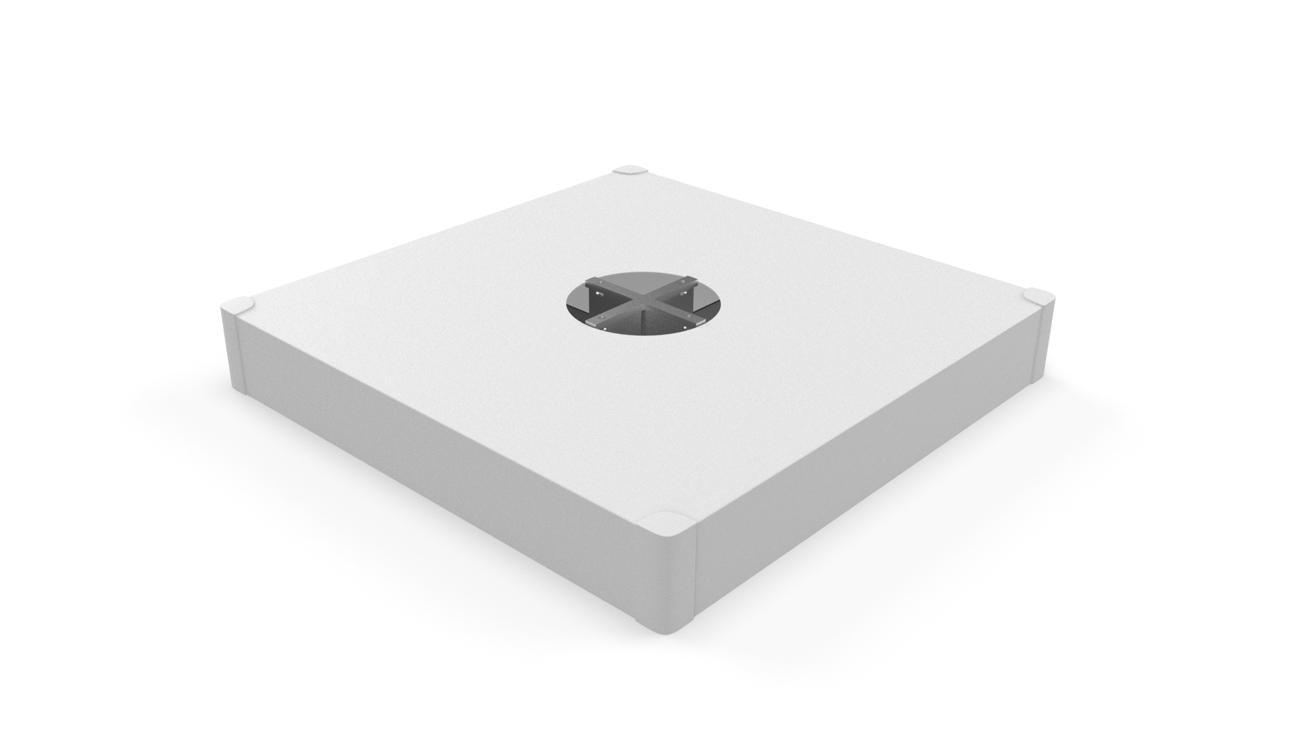 Base a crocera, copertura White (mattonelle non incluse)