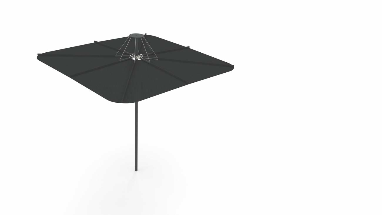 Infina UX garden umbrella | Full Black