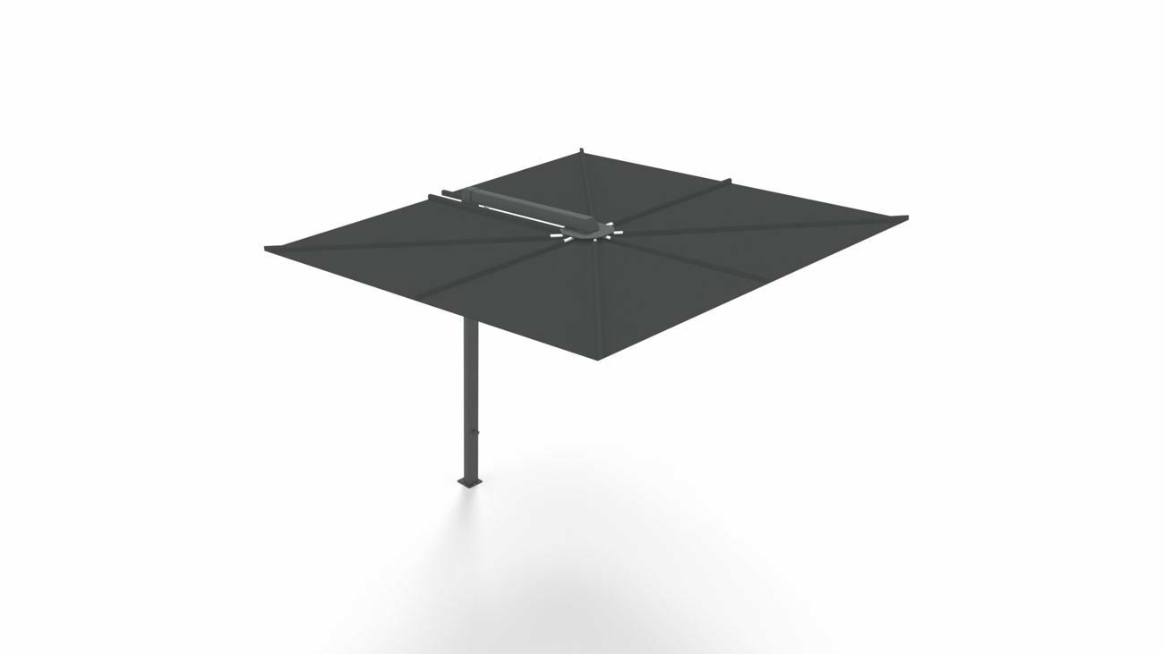 Ombrellone a palo laterale Nano UX  ǀ Full Black