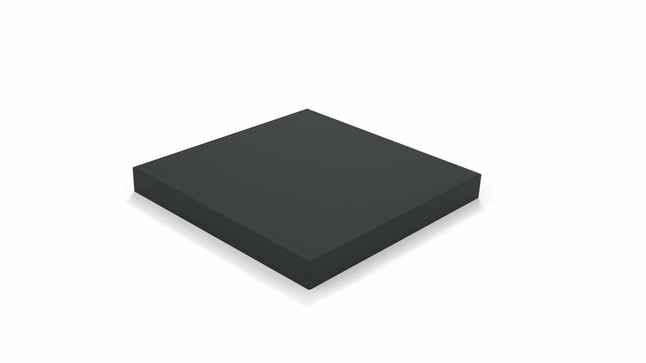 Nano UX Base Mobile Full Black (dalles pas incluses, roulettes incluses)